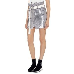 IRO Natou Sequined Skirt with belt